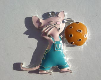 43mm Enamel Mouse Pendant, P27