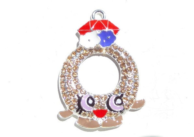 Findings Rhinestone Pendant Beading Necklace Charms Chunky Jewelry Making Supplies Child/'s Craft Kids Crafting DIY Gumball Charm