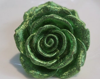 42mm Green Flower Pendant for Chunky bead  Necklace, C39