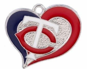 26mm. 1CT. Minnesota Twins Inspired Charm/Pendant, Y34