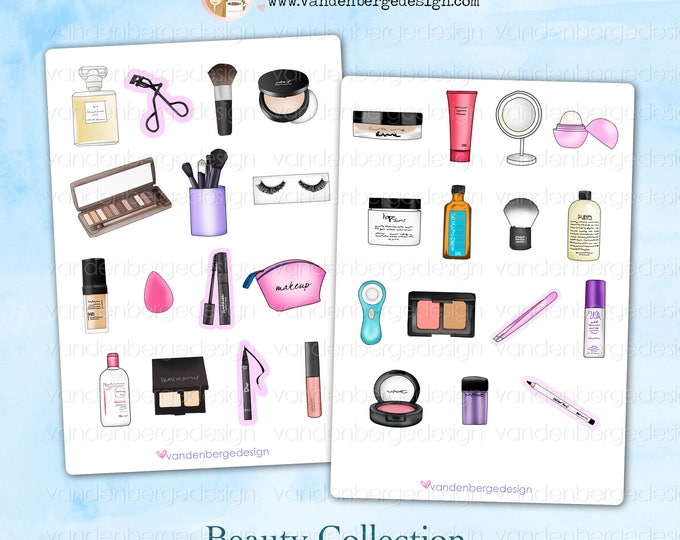Beauty Collection - Planner  Stickers- Perfect for all planners!