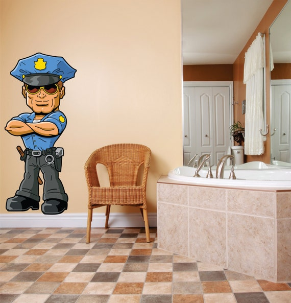 Attirant BEDROOM Decor Character Cop Police Officer LAPD Boy Girl Kid | Etsy