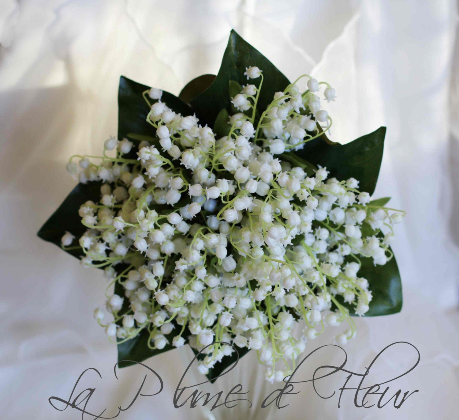 Lily of the valley wedding bridal bouquet artificial lily etsy zoom izmirmasajfo