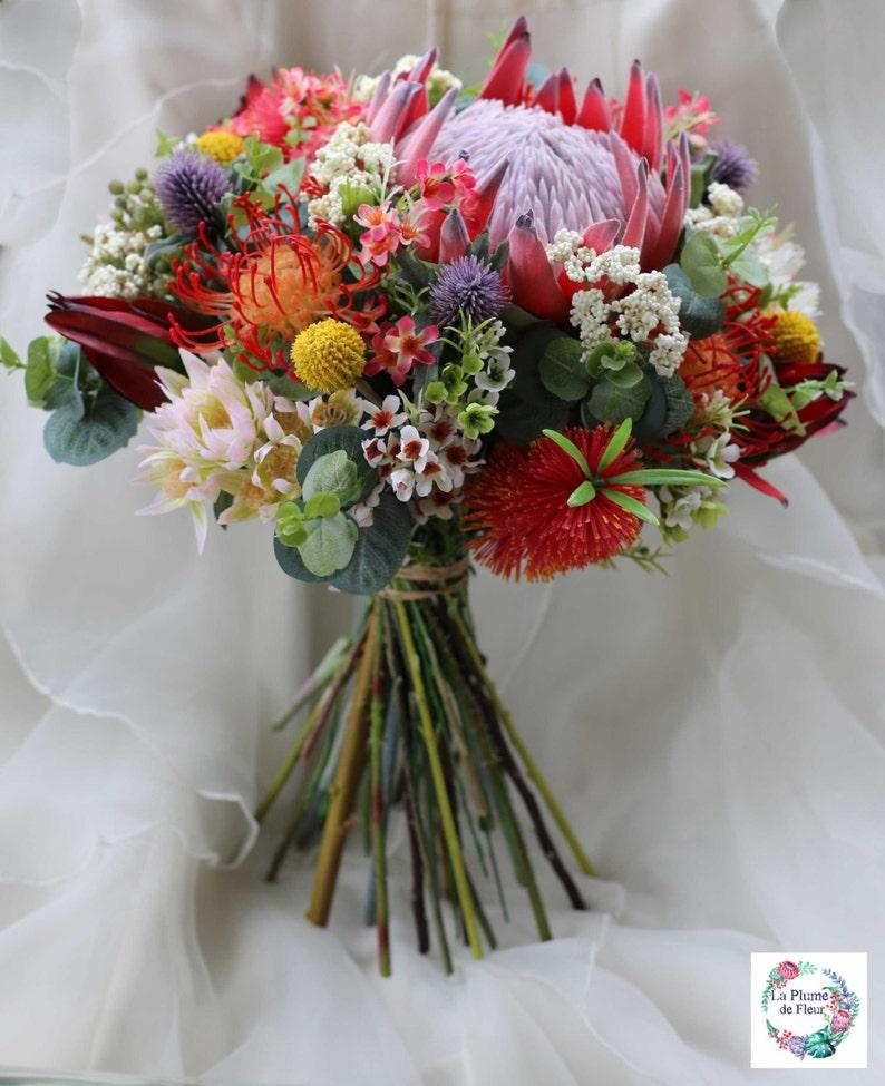 Rustic bouquet.  Bride bridesmaid bouquet of rustic native image 0