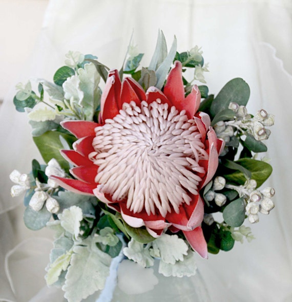 A Single Bloom Protea Bouquet: Items Similar To Bride, Bridesmaid, Flowergirl Bouquet