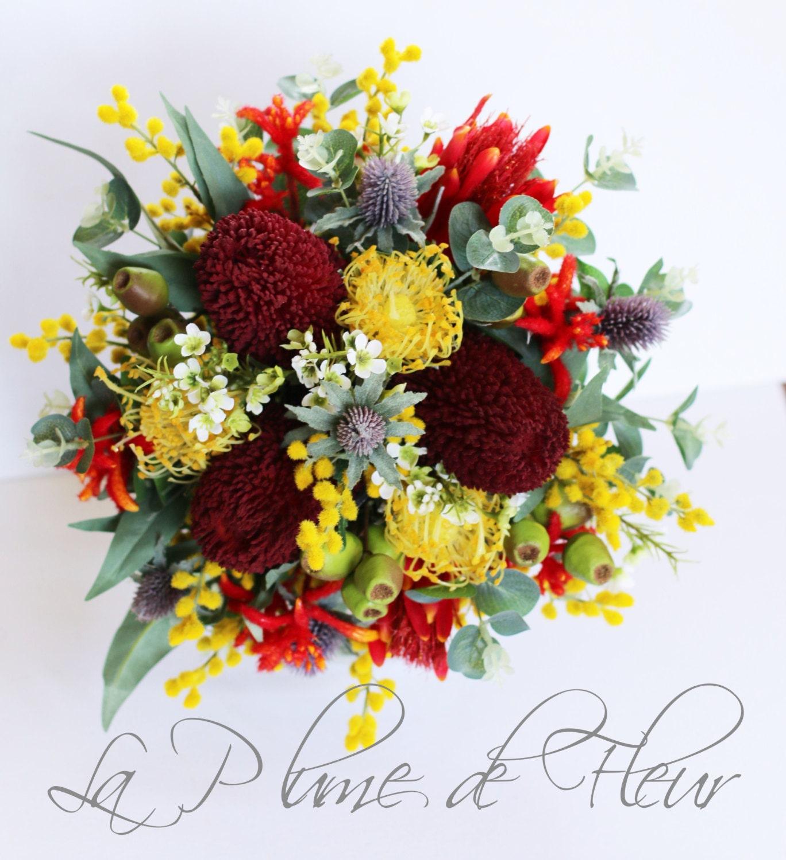 Australian Native Wedding Bouquet Native Flower Bouquet Etsy