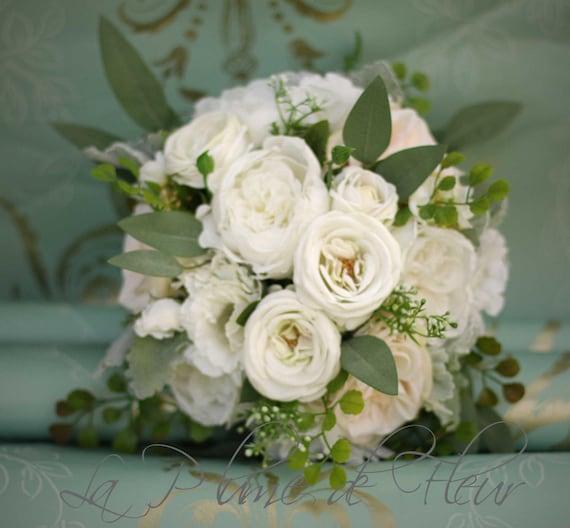 Brautstrauss Eukalyptus Blumenstrauss Rose Und Pfingstrose Etsy