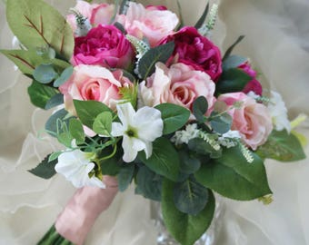 Boho Bouquet, Silk Flower Bouquet, Wedding Bouquet, Bridal Bouquet, Peony, rose, wildflower bouquet, Wedding Flowers, Silk Wedding Flowers