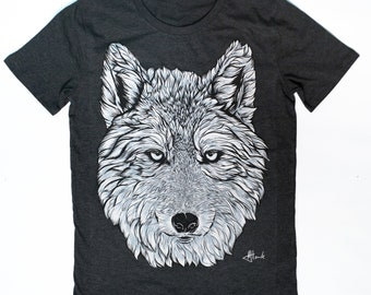 58af7ac2b WOLF t shirt wolf design wolf dog graphic tee tshirt animal teen wolf  boyfriend gift organic clothing wolf art design graphic design