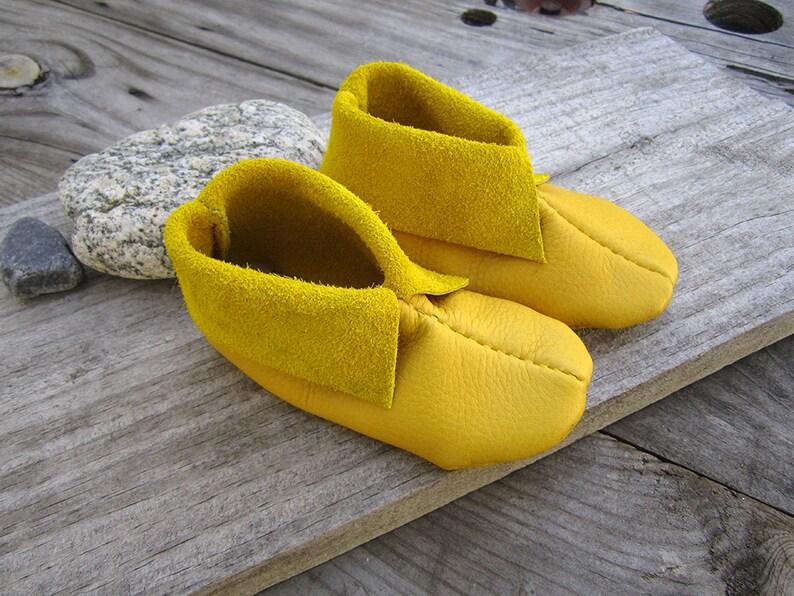2467d3d32c9f 5 Inch Elk Skin Baby Moccasins Little Kids Slippers