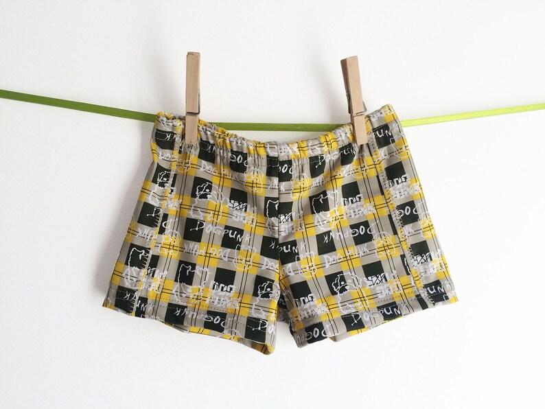 0306a59d70 Retro Toddler Swim trunks swimsuit for boys Hipster | Etsy