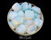 1 Large OPALITE Tumbled Stone Crystal Healing Crystal and Stone for Stress Relief Happiness Man Made Opal Glass Quartz Crystal OP01