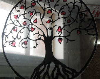 Heart Tree Of Life Specialized Window Clings Made to order
