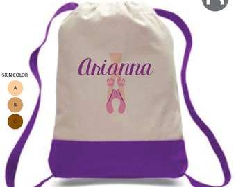 aa0f76572143 Ballerina Backpack • Personalized Dance Backpack • Personalized Ballet Bag  • Ballet Shoes Bag • Summer Dance Camp Bag • Preschool Backpack