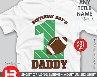 cd2012a9 Football Birthday Shirt • Football 1st Birthday Shirt or ANY AGE • Birthday  Boy's Daddy Shirt or Mommy Shirt