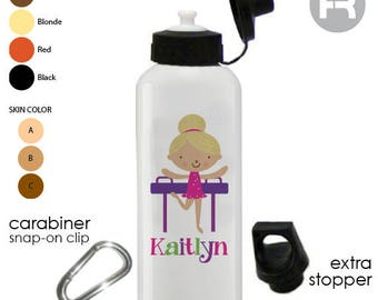 0827d40bfb Gymnastics Water Bottle • Gymnastic Personalized Kids Water Bottle •  Christmas Gift • Girls Water Bottle • School Lunch Water Bottle