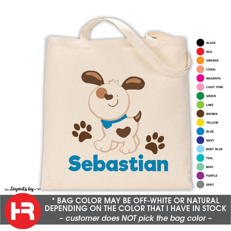 39434b82e Puppy Dog Tote Bag Personalized Pool Bag Printed Monogram | Etsy