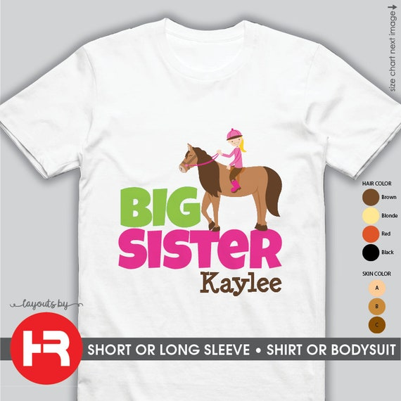 Big Sister Shirt Big Sister Announcement Shirt Big Sister Etsy