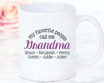 Grandma coffee Mug • My Favorite people call Me Grandma Mug • personalized Grandma Gift Mother's Day Gift birthday Gift christmas Gift