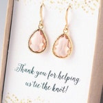 LONG or CLASSIC Bridesmaid Earrings Bridesmaid Gift Cute Cards Lovely Bridesmaid Jewelry Bridesmaid Gift Set Jewelry Set Limonbijoux