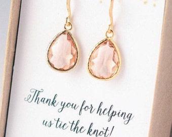 SHIPS TOMORROW Bridesmaid Earrings Bridesmaid Jewelry Gold Bridesmaid Gift Set Bridal Jewelry Set Bridal Earrings Gold