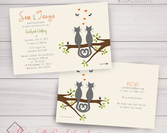 Cat Wedding Invite Etsy