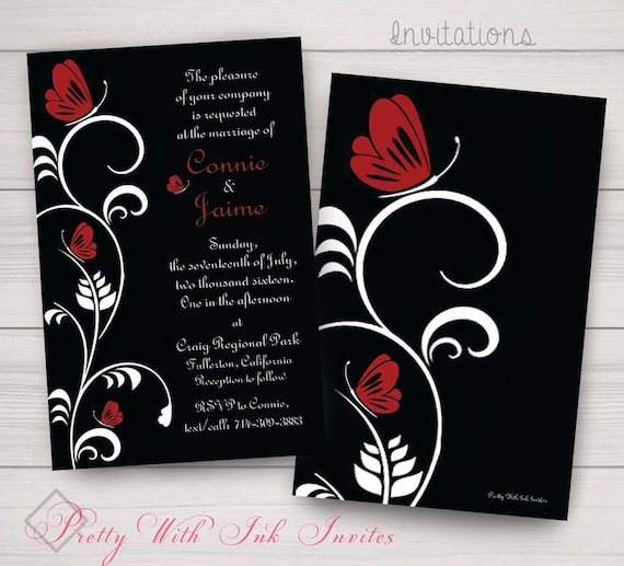 FLUTTER-BY BUTTERFLY Invitations & More To Match. Wedding