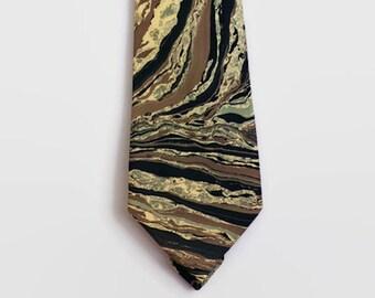 fb00bd2bf545 Marbleized Tie, Tie Dye Men's Accessory, Handmade Tie, Silk Tie, Neck Tie,  Marble Print, Vintage Neck Tie, Vintage accessory, Father's Day