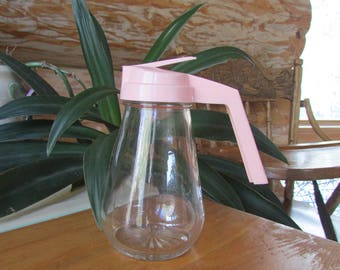 Vintage Pink Maple Syrup Pitcher