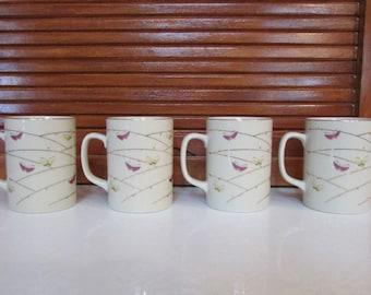 Otagiri Butterfly Coffee Mugs Set of 4