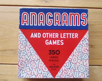 Anagrams And Other Letter Games 350 Large Pieces 1960's Game