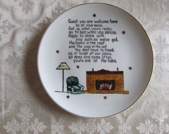 Norcrest Guest Welcome Plate