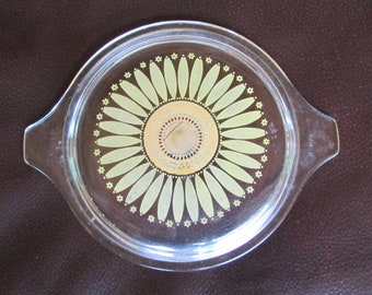 Pyrex Sunflower Glass Lid 1.5 Quart
