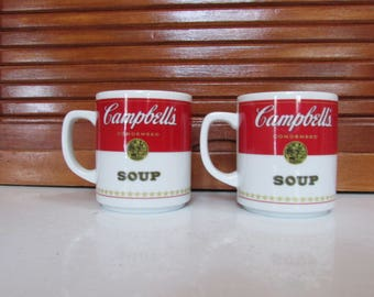 Campbells Soup Corning Made in Japan Mugs