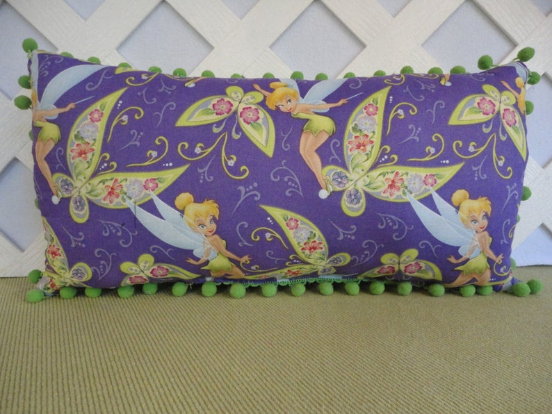 Pillow in Purple and Lime Green