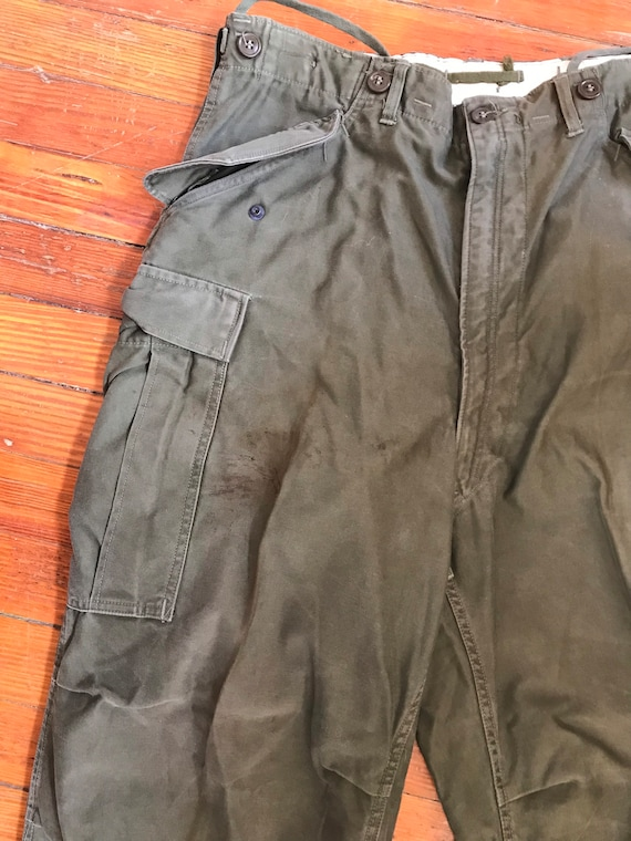 Vintage  Army Pants fatigues Field trousers army i