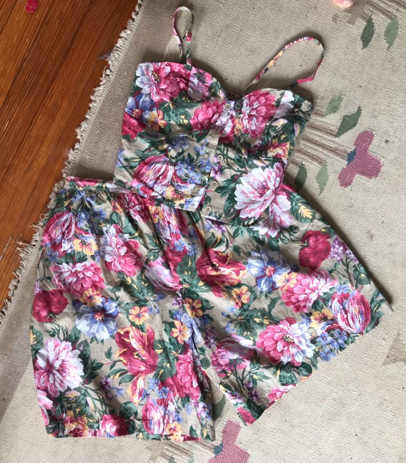 Vintage two piece 90s two piece Bustier and Shorts