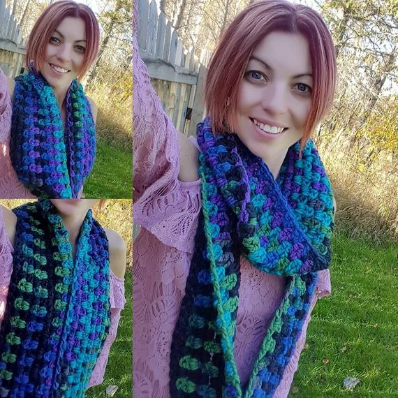 Free Shipping Crochet Chunky Infinity Scarf Crochet Wrap Etsy