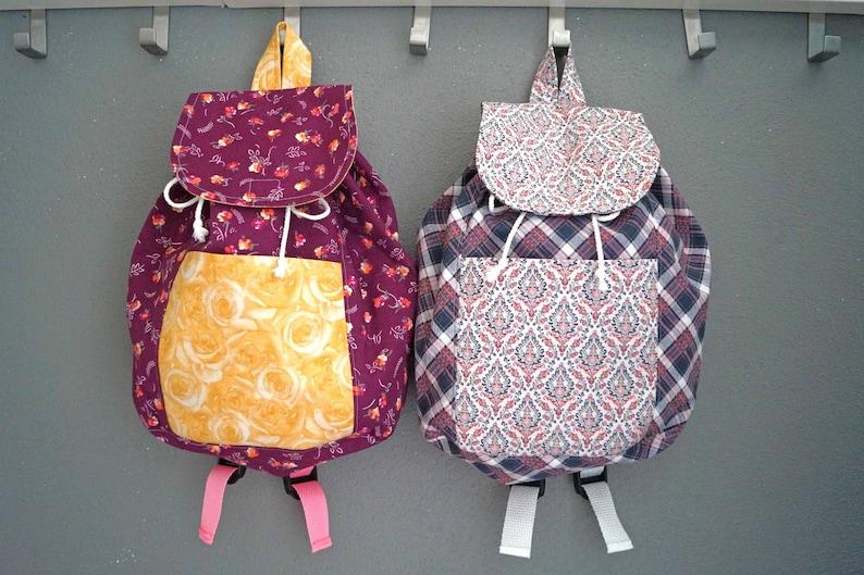 Floral Backpack Flower Bag Toddler Backpack Backpack for Girls Plaid Backpack Fabric Bag for Children Bag for Children