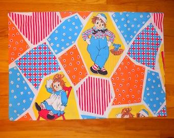VIntage 80s Raggedy Ann & Andy Pillowcase
