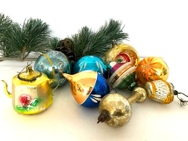 Vintage christmas ornaments | Etsy