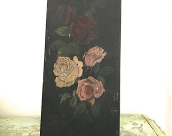 Vintage Painting on Wooden Panel