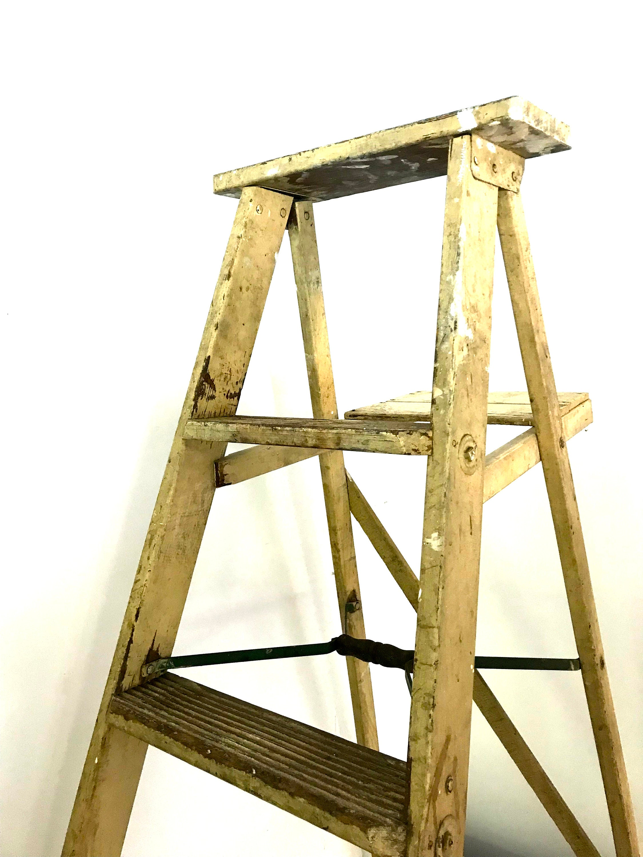 Construction Tools Construction Tool Parts Nortonberg Wood Folding Stair Chair Multi-function Step Stool Wooden Ladder Creative Ladder Chair High Quality Materials