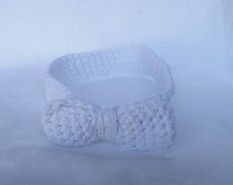 Handmade Crochet Headband - White