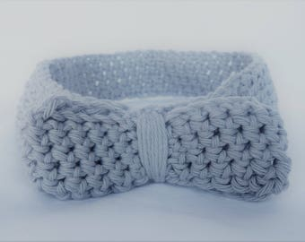 Handmade Crochet Headband - Grey