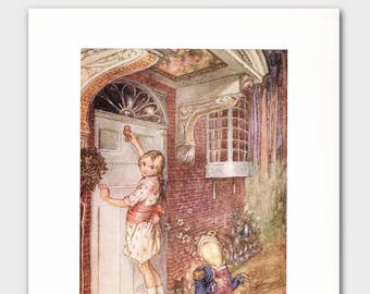"Fairy Tale Art, Alice in Wonderland Print --- ""Knock, Knock"" No. 91"