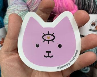Mystic Cat Vinyl Sticker