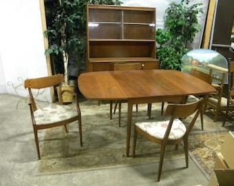 Pick Up Only Rare Mid Century 1961 DREXEL Kipp STEWART Declaration Walnut DINING  Set Hutch Table