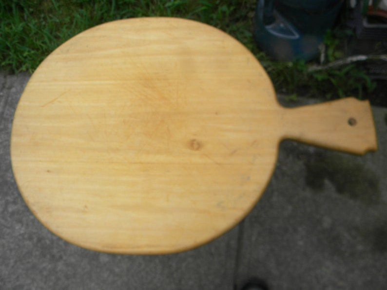 Good Shape Large Vintage 1960s Wooden Dough Pastry Bread Board