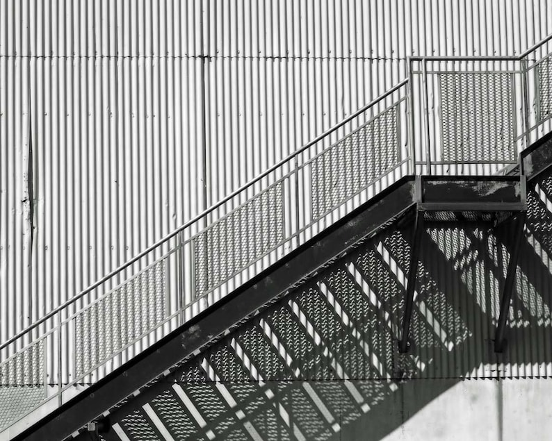 Industrial, Black And White Photography, Abstract Photography, Urban Art,  Loft Art, Shadow Photography, Fine Art Photography